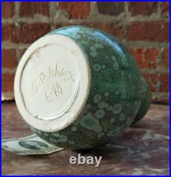 10 Stephen POLCHERT Studio Pottery Vase-Crystalline-Grotell/Natzler Era-MCM