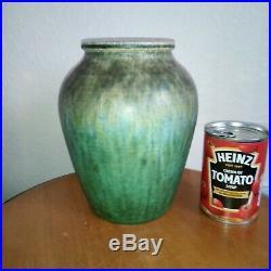 1932 Art Deco William Howson Taylor Signed Ruskin Studio Art Pottery Green Vase