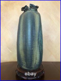 1960s Monumental Andrew Bergloff Expressionist Studio Pottery Floor Vase