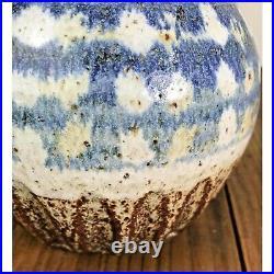 1967 8 Mid Century Studio Ceramic Pottery Vessel Vase Weed Pot by Artist Hines