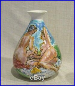 1968 Francis McCarthy 8 1/2 Vase with Nudes
