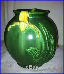 #311 Beautiful EPHRAIM Faience Pottery LADY SLIPPER VASE Retired