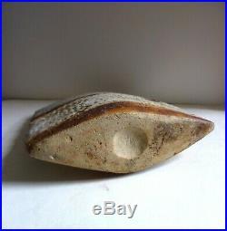 ALAN WALLWORK Large 14.5 Vintage Stoneware AXE HEAD VASE. 1960s