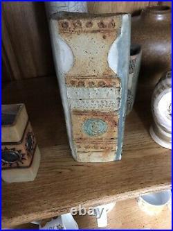 ALAN WALLWORK Studio Pottery STONEWARE VASE Incised WW On The Base
