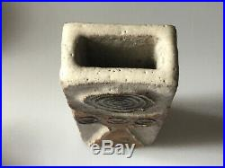 ALAN WALLWORK Studio Pottery STONEWARE VASE Incised W On The Base