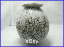 ALAN WALLWORK Studio Pottery Stoneware 10.5 cm Vase British Art Pottery