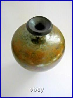 ANDREW HILL Studio Pottery Raku Vase 16 cm