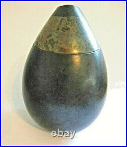 ANDREW HILL Studio Pottery Raku Vase 25 cm