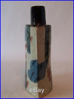 A John Maltby Glazed Bottle Vase Studio Pottery 25cm High c1980