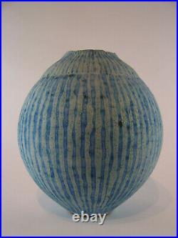 A Large Peter Beard Swollen Pod 25cm Studio Pottery Perfect