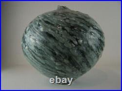 A Matthew Blakely Swollen Celadon Pod 25cm Studio Pottery circa 2010