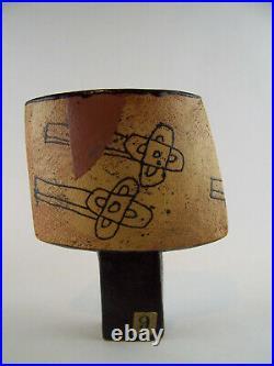 A Rare John Maltby Spade Vase Studio Pottery 8 inches tall