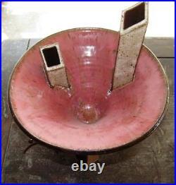 Abstract/ Sculptural Ikebana Vase By Mark/ Cathy Lukacs Studio Pottery