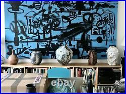 Akiko Hirai. Large Moon vase. Hand-thrown stoneware. Contemporary. 44 cm