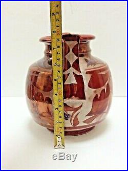 Alan Caiger Smith Stunning Large Copper Lustre Aldermaston Vase