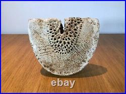 Alan Wallwork Studio Pottery Stoneware Vase Incised Aw On Base