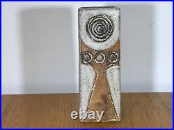 Alan Wallwork Studio Pottery Stoneware Vase Incised W On Base