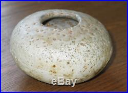 Alan Wallwork studio pottery small early round pot with seed holes NICE