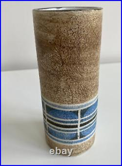 Alison Brigden Troika Studio Pottery Cylinder Vase