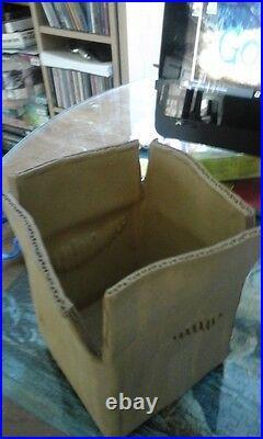 Alka Malta Ceramics Vase Shape of Cardboard Box Vintage Studio Pottery