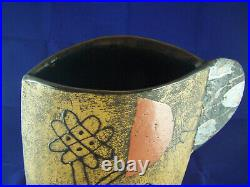 An Excellent John Maltby Tall Cup Vessel Studio Pottery 37cm tall