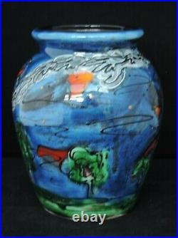 Anita Harris Bottle Ovens Vase 13cm tall