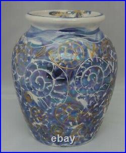 Anita Harris Fossilised Ammonites lustre glazed Vase signed in gold to base