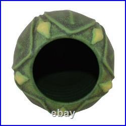 Arts And Clay Jemerick Pottery 2002 Yellow Bud Matte Green Vase 18