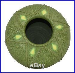 Arts and Clay Company Jemerick Pottery Matte Green Yellow Bud Bulbous Vase
