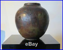 Ban Kajitani 1980s Modernist Japanese artist studio pottery vase Japan