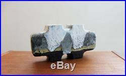 Barbara Stehr Studiokeramik Doppel-vase Objekt German Studio Pottery Object'70