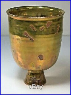Beatrice Wood (1893-1998) Beato Golden Green Luster Pottery Vase