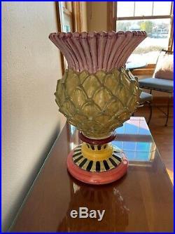 Beautiful Mackenzie-Childs Signed Rebecca Proctor Thistle Vase 2011