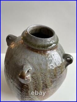 Beautiful Phil Rogers Lug Handled Studio Pottery Vase