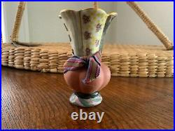 Beautiful Rare Hand Painted Mackenzie Childs Lamp Finial Flower Bud Vase 1999