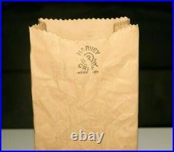 Beautiful Vintage Michael Harvey Craft #2 Brown Paper Bag Ceramic Pottery Vase
