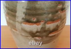 Bernard Leach British studio pottery large beige coloured vase
