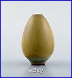 Berndt Friberg, Gustavsberg Studio Hand. Rare pottery vase, egg shaped, 1950/60s
