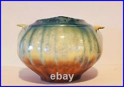 Bill Campbell Pottery Signed Matte Crystalline Glaze Vase One of a Kind