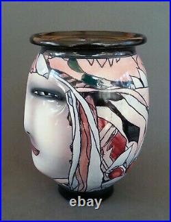 Bing studio pottery Art Nouveou vase, 7.5 inches