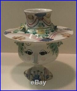 Bjorn Wiinblad Studio Head Vase Studio Pottery Signed Denmark