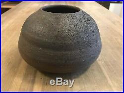 Brick Clay Pot Vase by Malcolm Wright Vermont Studio Potter Ceramic Wabi-sabi