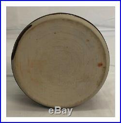 Brother Thomas Bezanson Pottery Pinch Vase Tenmoku Glaze Weston Vermont