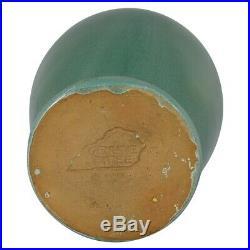 Bybee Kentucky Pottery High Glaze Green Three Handled Vase