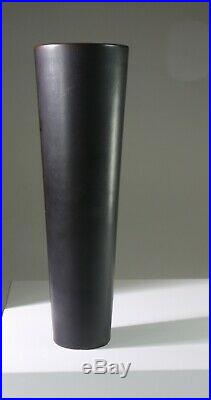 CARL-HARRY STALHANE Black studio vase SOP Rorstrand Sweden -1950s