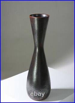 CARL-HARRY STALHANE Large studio vase 28 cm Rorstrand Sweden -1950s