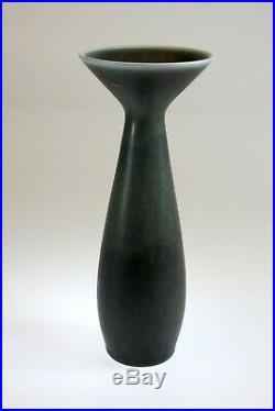CARL-HARRY STALHANE Slim studio vase 19 cm SOI Rorstrand Sweden -1950s
