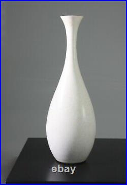 CARL-HARRY STALHANE White studio vase SBU Rorstrand Sweden -1950s