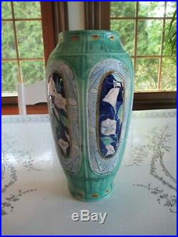 Calmwater Designs Stephanie Young Pottery Vase 8.75 Morning Glory Vase