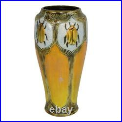 Calmwater Designs Stephanie Young Pottery Yellow Beetle Vase